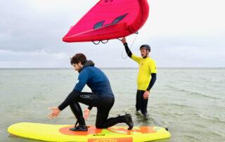 Janne und Matze lernen Wingfoilen