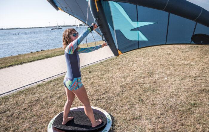 Theorieprüfung Trockentraining Wingfoil Fehmarn