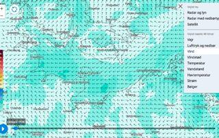 DMI - Wetter Wind zum Wingfoilen
